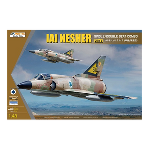 Kinetic Models 1/48 Scale Iai Nesher Single/Double Seat Combo (2-In-1)