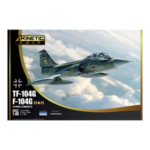 Kinetic Models 1/48 Scale Tf-104G / F-104G Luftwaffe Starfighter (2 In 1)