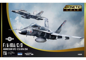 Kinetic Models 1/48 Scale F/A-18A/C/D Aggressor VFC-12 & VFA-204