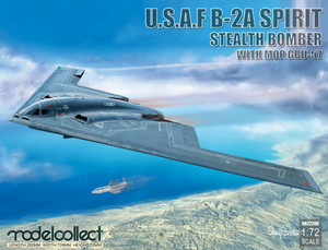 ModelCollect 1/72 Scale USAF B-2A Spirit Stealth Bomber with Mop GBU-57