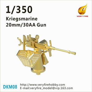 Very Fire 1/350 Scale DKM Kriegsmarine 20mm/30 AA Guns (16 Sets)