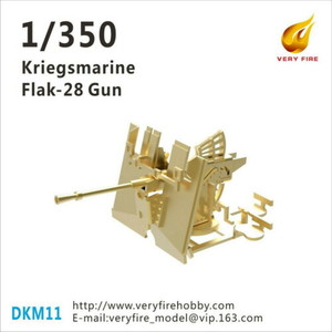 Very Fire 1/350 Scale DKM Kriegsmarine Flak-28 AA Guns (8 Sets)