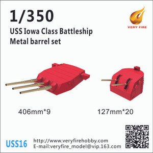 Very Fire 1/350 Scale USS Iowa Class Metal Barrels And Waterblast