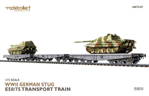 ModelCollect 1/72 Scale WWII German STUG E50/75 Transport Train