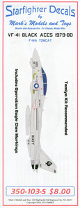 Starfighter Decals 1/350 Scale VF-41 1979-80 Operation Eagle Claw