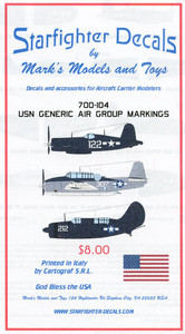 Starfighter Decals 1/700 Scale USN Generic Air Group Markings