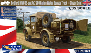 Gecko Models 1/35 Scale Bedford MWC 15-cwt 4x2 200 Gallon Water Bowser Truck