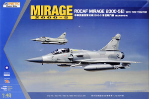Kinetic Models 1/48 Scale Mirage 2000-5EI with Tow Tractor