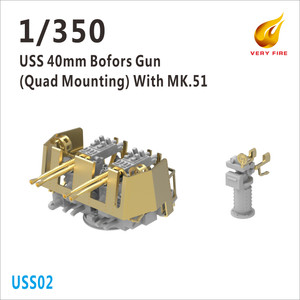 Very Fire 1/350 Scale USS 40mm Bofors Quard AA Guns with MK.51 (6 sets)
