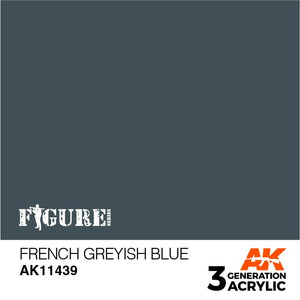 AK Interactive 3rd Generation Paint - French Greyish Blue