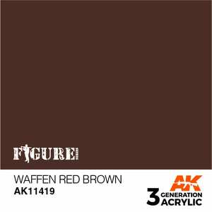 AK Interactive 3rd Generation Paint - Waffen Red Brown