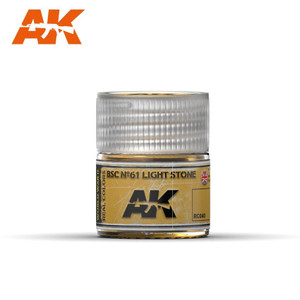 AK Interactive Real Colors - BSC No.61 Light Stone 10ml