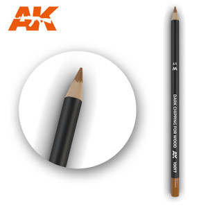 AK Interactive Watercolor Pencil - Dark Chipping for Wood
