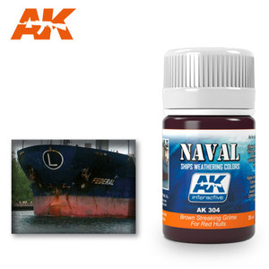 AK Interactive Brown Streaking Grime - For Red Hulls 35ml