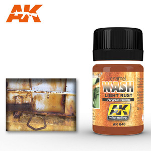 AK Interactive Light Rust Wash - For Green Vehicles 35ml