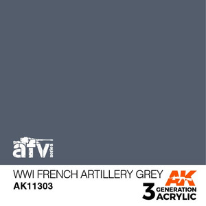AK Interactive 3rd Generation Paint - WWI French Artillery Grey