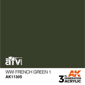 AK Interactive 3rd Generation Paint - WWI French Green 1