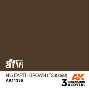 AK Interactive 3rd Generation Paint - No.5 Earth Brown (FS30099)