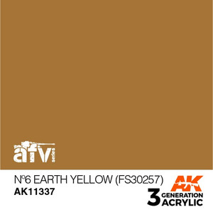 AK Interactive 3rd Generation Paint - No.6 Earth Yellow (FS30257)