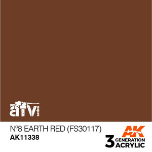 AK Interactive 3rd Generation Paint - No.8 Earth Red (FS30117)