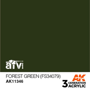 AK Interactive 3rd Generation Paint - Forest Green (FS34079)