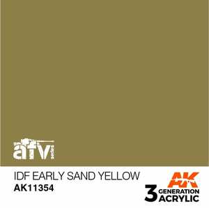 AK Interactive 3rd Generation Paint - IDF Early Sand Yellow