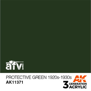 AK Interactive 3rd Generation Paint - Protective Green 1920s-1930s