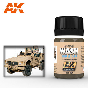 AK Interactive Wash for Oif & Oef - For US Vehicles 35ml