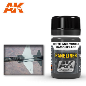 AK Interactive Paneliner - For White and Winter Wamouflage 35ml