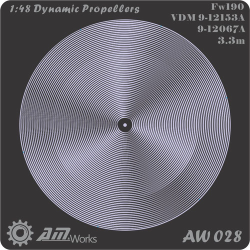 1/48 Alliance Modelworks Dynamic Propeller Fw190 3.3m VDM9-12153A/9-12067A