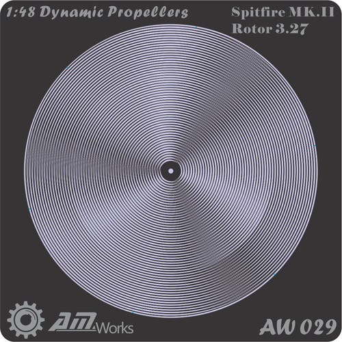 1/48 Alliance Modelworks Dynamic Propeller Supermarine Spitfire Mk. III Rotor 3.27m