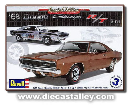 1/25 Revell 1968 Dodge Charger R/T (2n1 Kit) (Special Edition)
