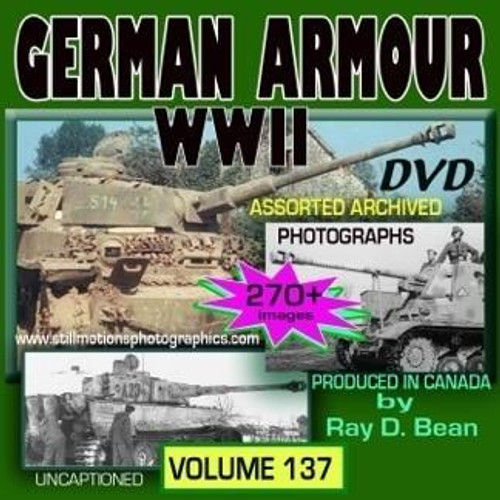 Still Motions Photographics German Armour WWII Pictorial Photo DVD Album