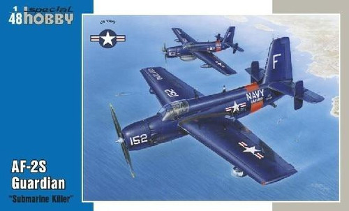 Special Hobby 1/48 Special Hobby - Grumman AF-2S Guardian Submarine Killer US Navys first purpose-built ASW carrier-based A/C
