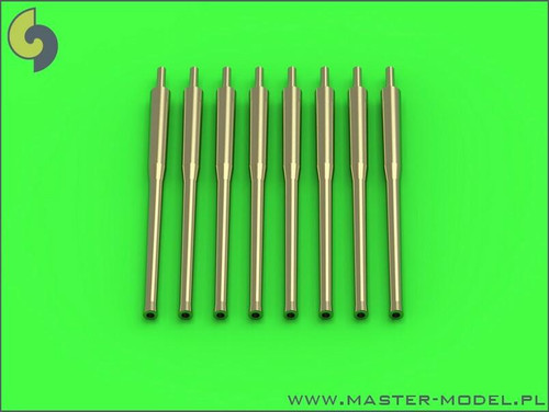 Master Models 1/350 Master Model IJN 12,7cm/50 5in 3rd Year Type barrels - for turrets without blastbags 8pcs - most IJN destroyers built 1930-1945
