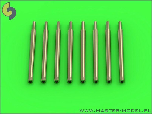 Master Models 1/350 Master Model IJN 12,7cm/50 5in 3rd Year Type barrels - for turrets with blastbags 8pcs - most IJN destroyers built 1930-1945