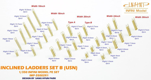 Infini Models 1/350 Infini Models WWII Usn Inclined Ladders Set B