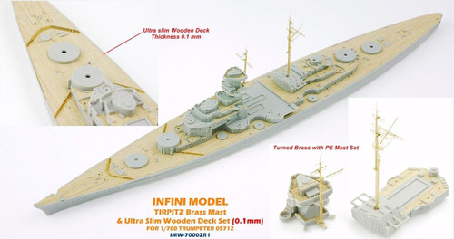 Infini Models 1/700 Infini Models Brass Mast and Ultra Slim Wood Deck for TIRPITZ TR05712