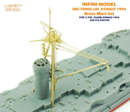 Infini Models 1/700 Infini Kongo 1944 Brass Mast Set For Fujimi 420172/420189
