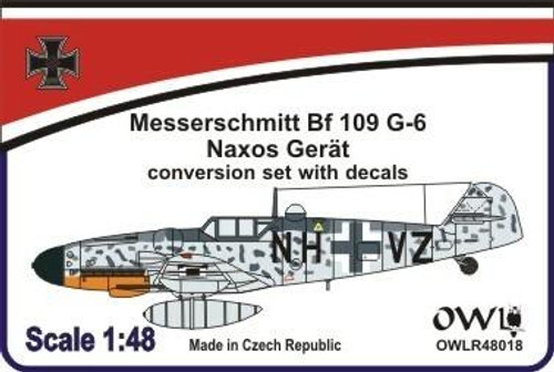 All Other Brands 1/48 Owl Decals Conversion Set- Bf 109 G-6 Naxos Conversion Set /w Decal