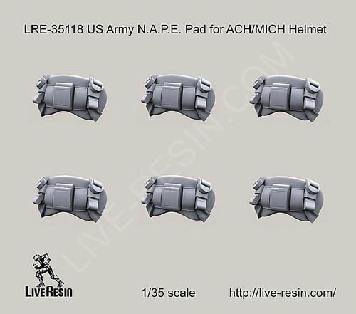 Live Resin 1/35 Live Resin US Army NAPE Pad for ACH/MICH Helmet
