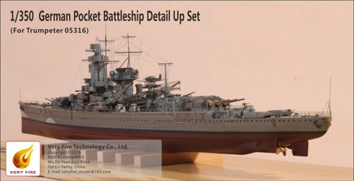 Very Fire 1/350 Very Fire GRAF SPEE Super Detail Up Set for Trumpeter