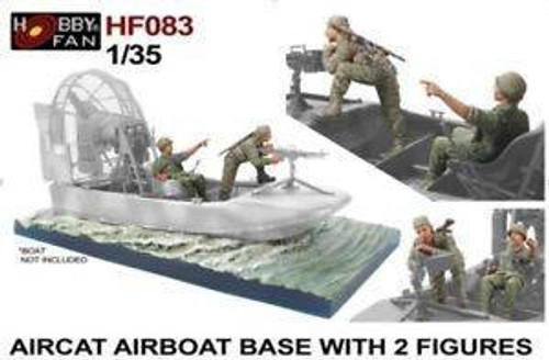 Hobby Fan 1/35 Hobby fan Aircraft Airboat Base w/ 2 Figures Boat not Included