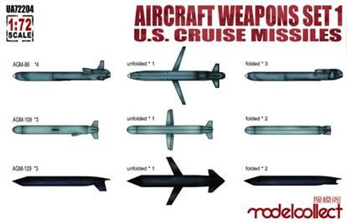 ModelCollect 1/72 Modelcollect Aircraft Weapons Set 1 US Cruise Missiles