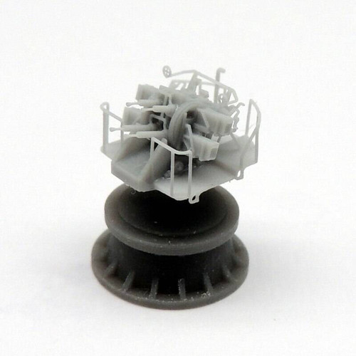 Black Cat Models 1/350 BLACK CAT MODELS 2 PDR POM POM MKVIII GUN ON QUAD MOUNT MKVII X3