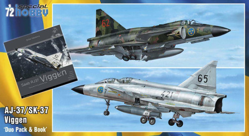 Special Hobby 1/72 Special Hobby SAAB 37 Viggen Duo Pack and Book