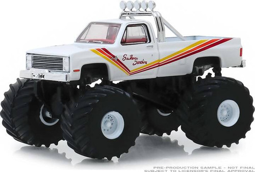 Greenlight Greenlight 1/64 Kings of Crunch 5 - Southern Sunshine - 1981 Chevy K20 Silverado Monster Truck