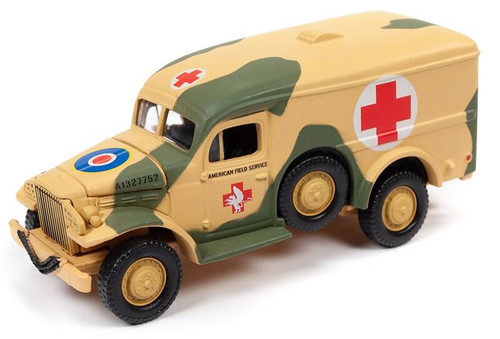Johnny Lightning Johnny Lightning Military 1/64 5A - WWII Dodge WC54 Ambulance, Olive Drab