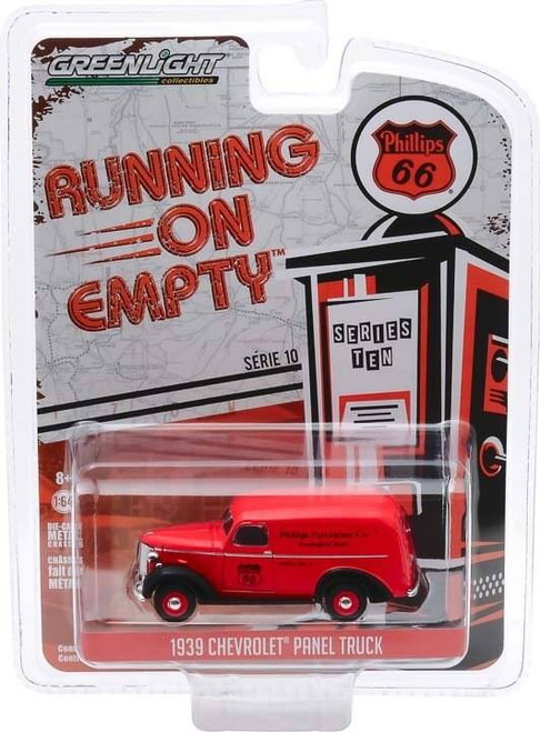 Greenlight Greenlight Running on Empty 10 1/64 - 1939 Chevy Panel Truck - Phillips 66 Phillips Petroleum Co