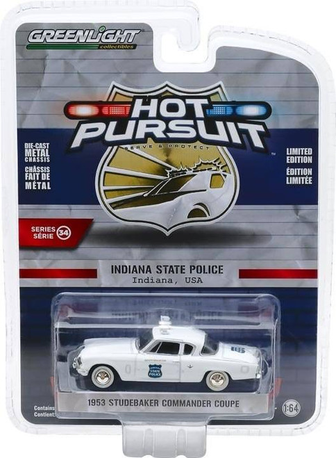 Greenlight Greenlight 1/64 Hot Pursuit 34 - 1953 Studebaker Commander Coupe - Indiana State Police